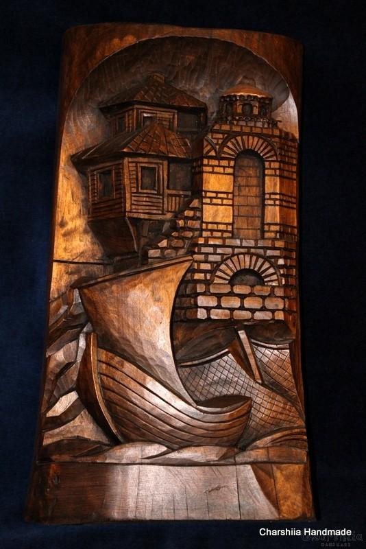 Дърворезба ''Крайморски град'' 1