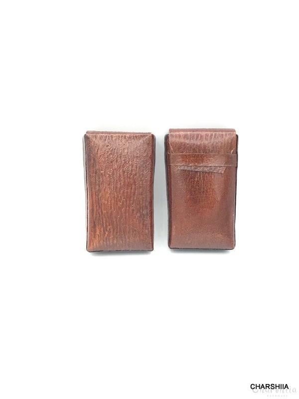 Кутия за цигари, ръчно изработена от естествена кожа