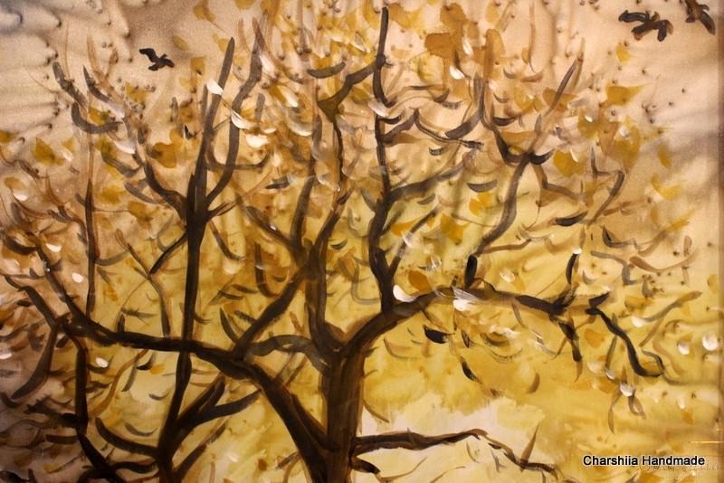 """Картина - Батик ''Енергийно дърво 8"""""""