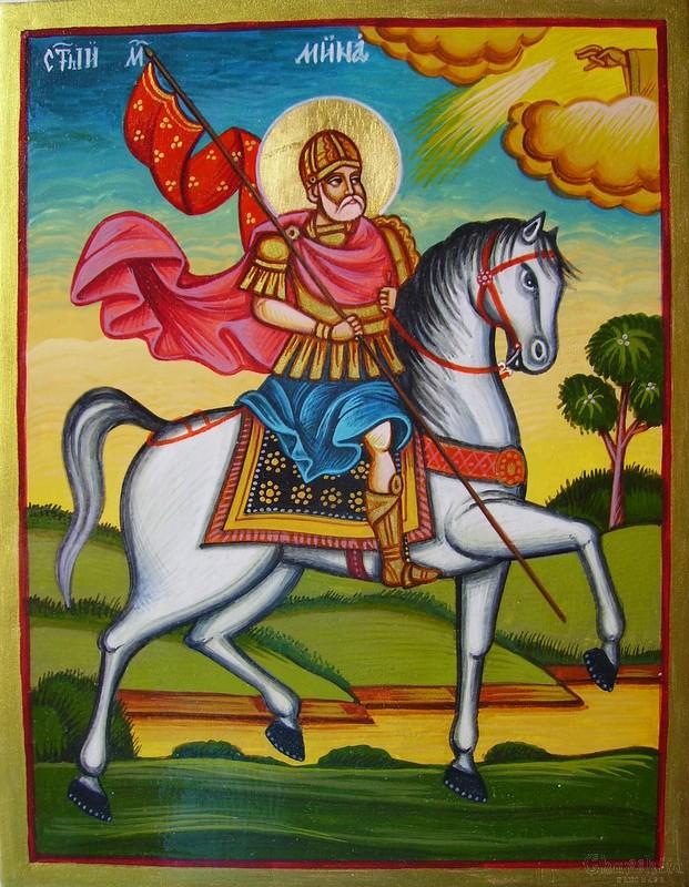 Икона образ на ''Свети Великомъченик Мина''