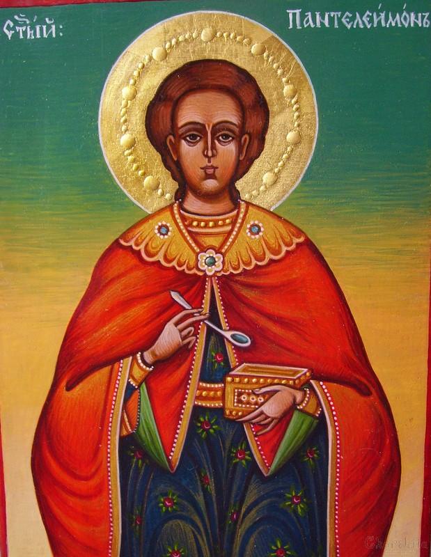Икона образ на ''Свети Пантелеймон''