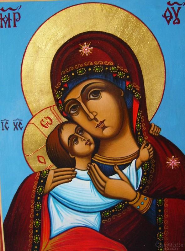 Икона образ на ''Богородица Умиление-Елеуса''