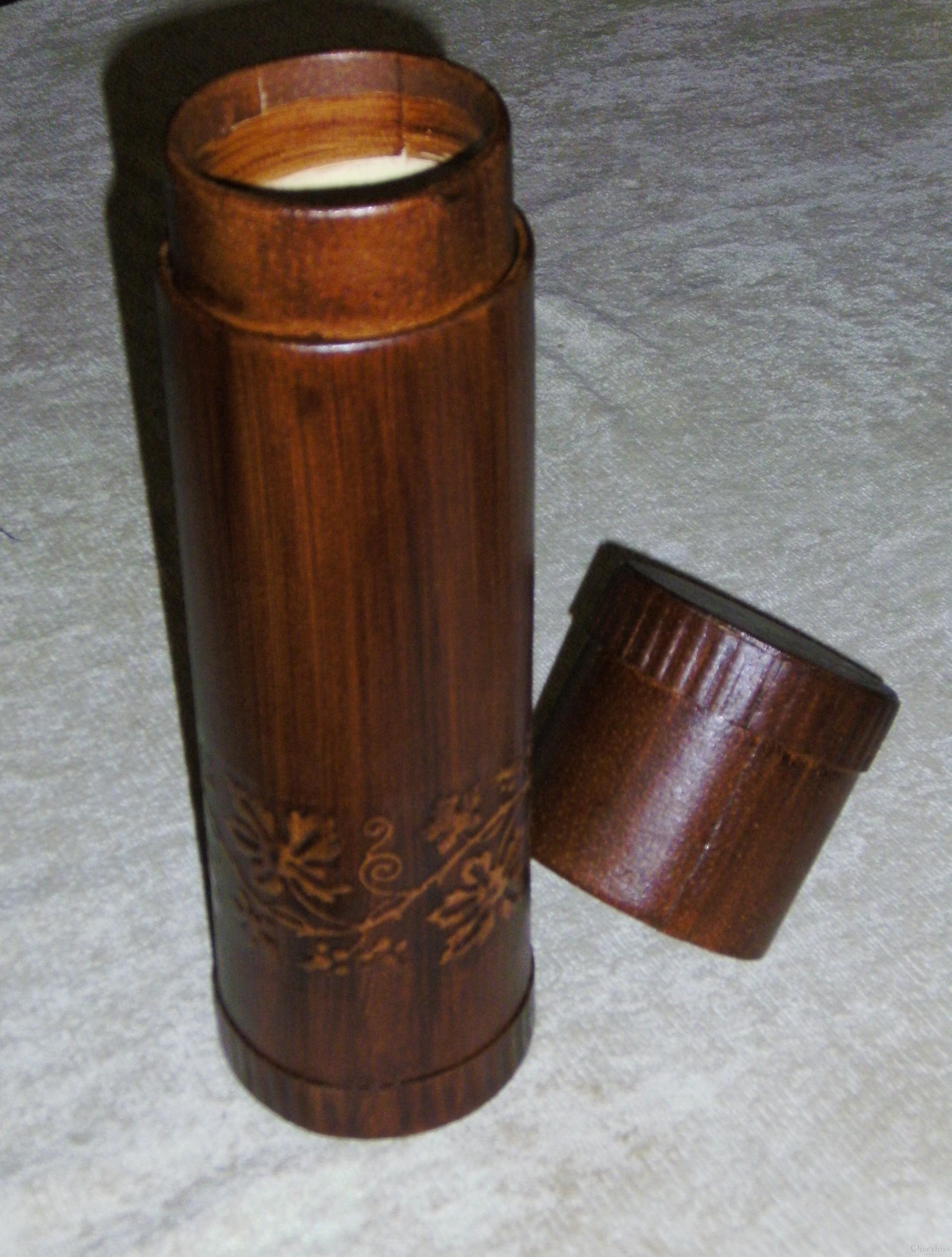 Тубус или кутия за вино от естествена кожа