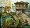 Картина ''Селянин с каручка ''