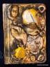 Тефтер облечен с полимерна глина, декориран с елементи