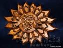 Дърворезба ''Слънце, птици, цвете''