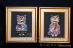 """Картина ''Керамична котка"""""""