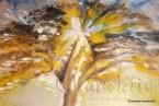 """Картина - Батик ''Енергийно дърво 7"""""""