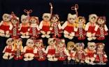 Традиционна българска, малка парцалена двойка кукли - Пижо и Пенда