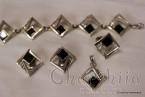 Сребърен комплект четири части с Оникс