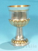 Silver and gilt cup with ornaments 1