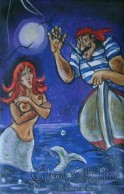 Painting ''Sailor and mermaid''