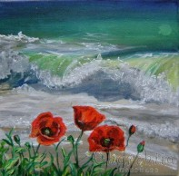 Painting ''Sea breeze with poppies''