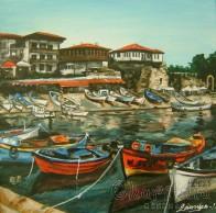 Painting ''Summer pier''