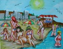 Painting ''Local Voyeur''