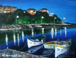 Painting ''Coastal light''
