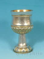 Silver and gilt cup with ornaments 2