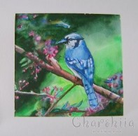 "Painting ''Aquarelle - Bird"" 2"
