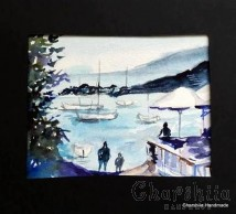 Painting ''Aquarelle - Port city'' 2