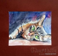 Painting ''Aquarelle - Cat'' 7