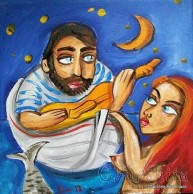 Painting ''Fisherman and mermaid'' 2