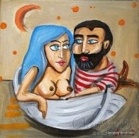 Painting ''Fisherman and mermaid'' 7