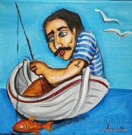 Painting ''Fisherman'' 6