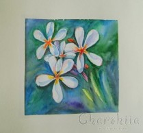 Painting ''Aquarelle - Flowers'' 2