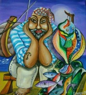 Painting 'Fishing catch''