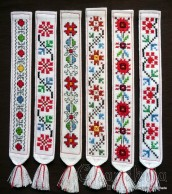 Book dividers with Bulgarian embroidery
