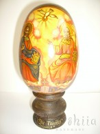 Icons painted on wooden eggs 8