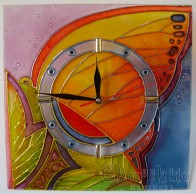 Hand painted wall clock 6