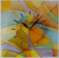 Hand painted wall clock