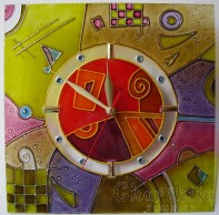 Hand painted wall clock 1