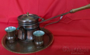 Copper brandy service