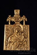 "Brass icon ""Virgin Mary"""