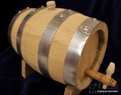 Natural Acacia Wood Barrel