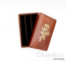 Book cover with bookmark, handmade, genuine leather