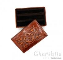 Cigar box, genuine leather