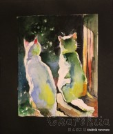 Painting ''Aquarelle - Cats'' 2