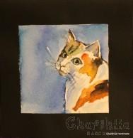 Painting ''Aquarelle - Cat'' 3