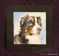 Painting ''Aquarelle - Dog'' 1