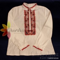 Junior shirt for boy with Bulgarian embroidery - region Pleven