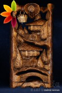 "Woodcarving ""Bulgarian house 3"""