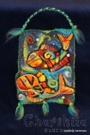 "Felt wall painting ""Underwater World - Fish"""