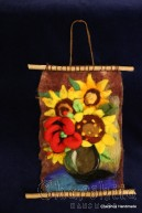 "Felt wall painting ""Sunflowers"" 1"