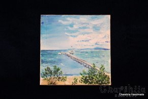 Batik Silk Painting ''Sea 1""