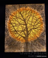 Batik Silk Painting ''Energy wood 5""