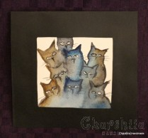 Painting ''Aquarelle - Cats'' 5