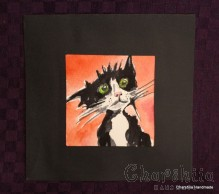 Painting ''Aquarelle - Cat'' 4